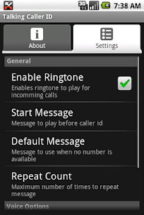 Talking Caller ID - screenshot thumbnail