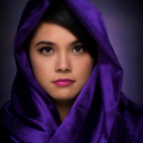 Sweet eyes by Dan Pham - People Portraits of Women ( girl, purple, beauty, portrait, eyes,  )
