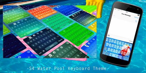 S4 Water Pool Keyboard Theme
