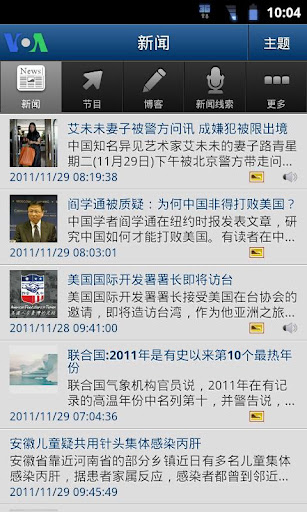 Screenshot #1 of VOANews Chinese Edition / Android