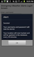 Screenshot of Emergency Weather Alerts