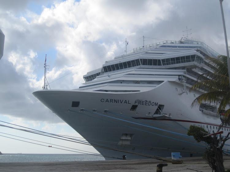 Carnival Freedom docked in Aruba, January 2013.