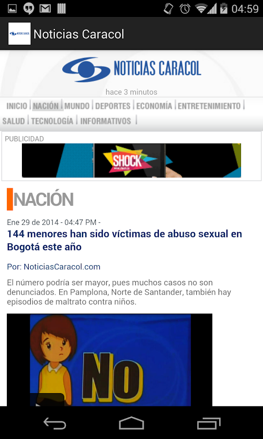 Noticias Caracol- screenshot