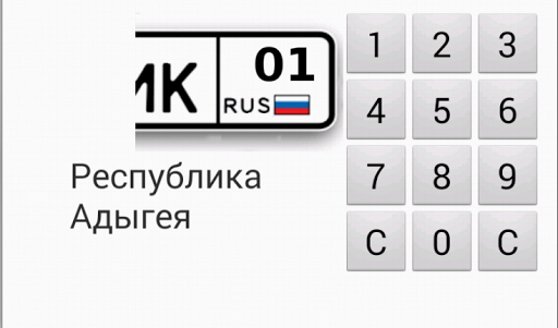 Коды регионов РФ