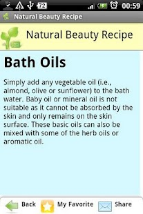 Natural Beauty Recipe- screenshot thumbnail