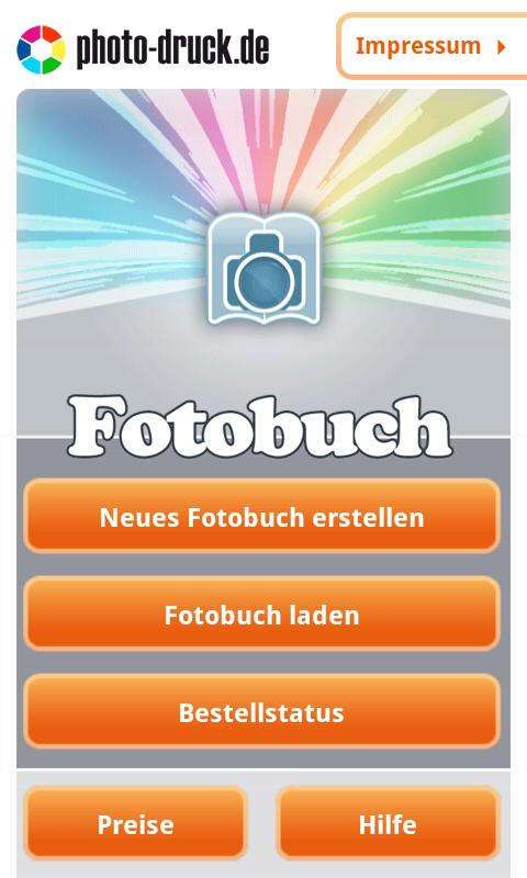 Fotobuch- screenshot