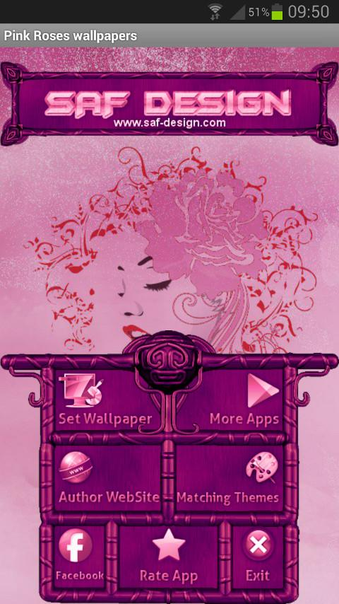 PINK ROSES GO Launcher Theme- screenshot