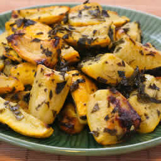 Roasted Summer Squash with Lemon and Mint.