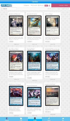 TCGTABLE - MTG CARDS SEARCHER