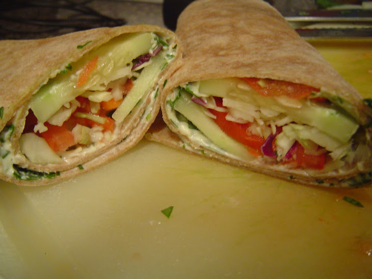 Cucumber Veggie Wraps Recipe