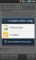 Screenshot of IncaMail