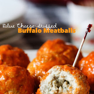 Blue Cheese-Stuffed Buffalo Meatballs.