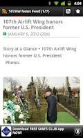 Screenshot of 107 AW News