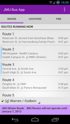 JMU Bus App - Lite