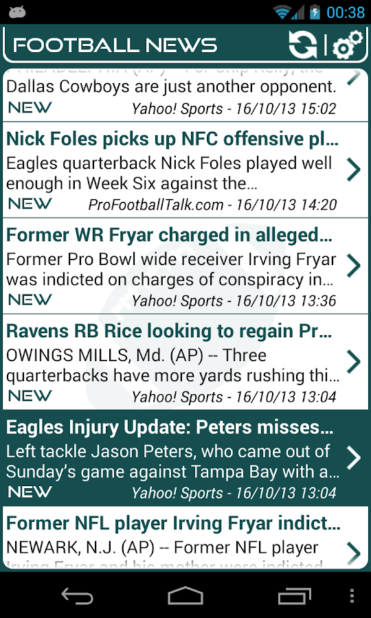 Philadelphia Football News - screenshot