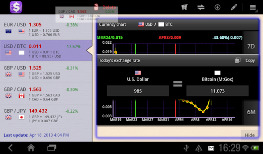aCurrency Pad for tablet - screenshot thumbnail