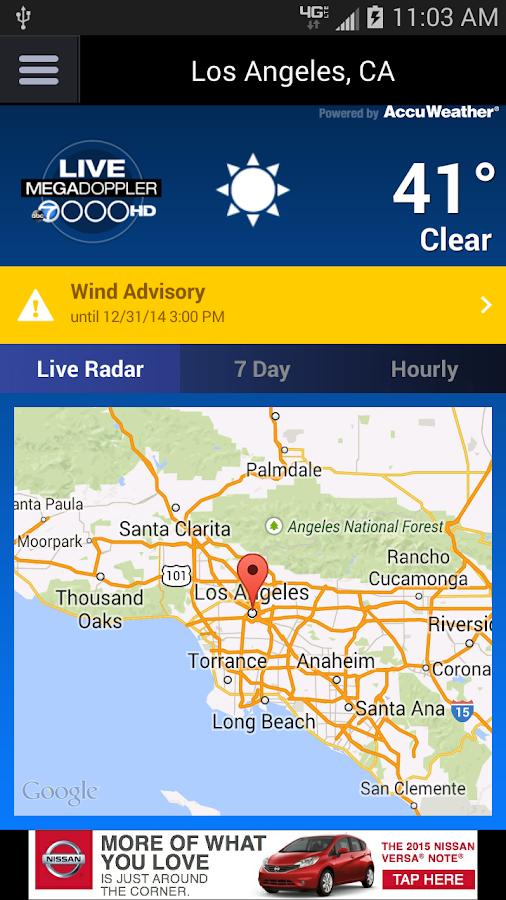 MEGADOPPLER – ABC7 LA WEATHER- screenshot