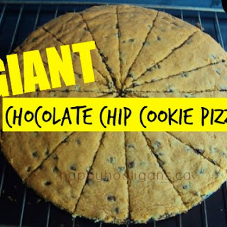 Giant Chocolate Chip Pizza Cookie