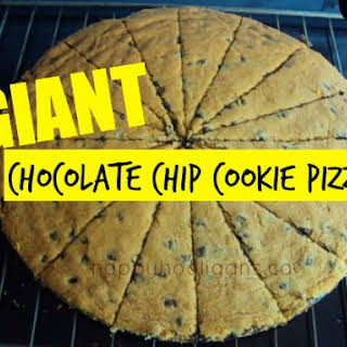 Giant Chocolate Chip Pizza Cookie.