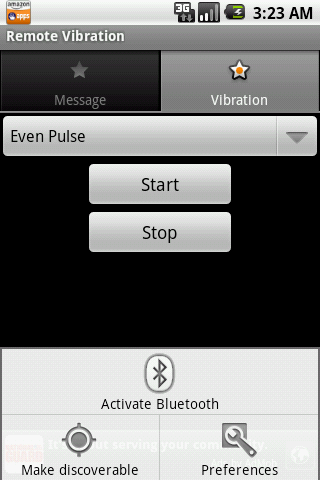 Remote Vibration - screenshot
