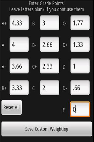 GPA & Final Exam Calculator - screenshot