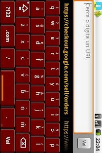 Red Honeycomb Keyboard Skin - screenshot thumbnail