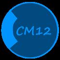 CM12 Theme Dark Black Blue APK Cracked Download