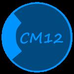 CM12 Theme Dark Black Blue v1.7