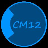 CM12 Theme Dark Black Blue