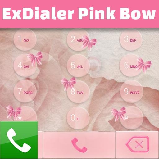 ExDialer粉色蝴蝶结 個人化 App LOGO-硬是要APP