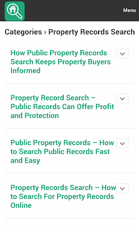 Property Search Tips 1.0 screenshot 10075