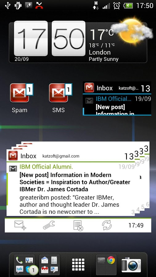 Widgets for Gmail - screenshot