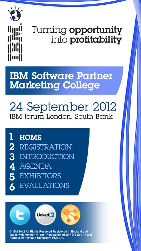 IBM Events- screenshot