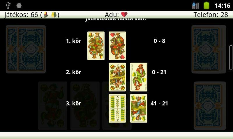 Snapszer (Schnapsen, 66) - screenshot