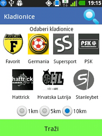 Kladionice- screenshot