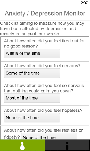 Anxiety Depression Checklist