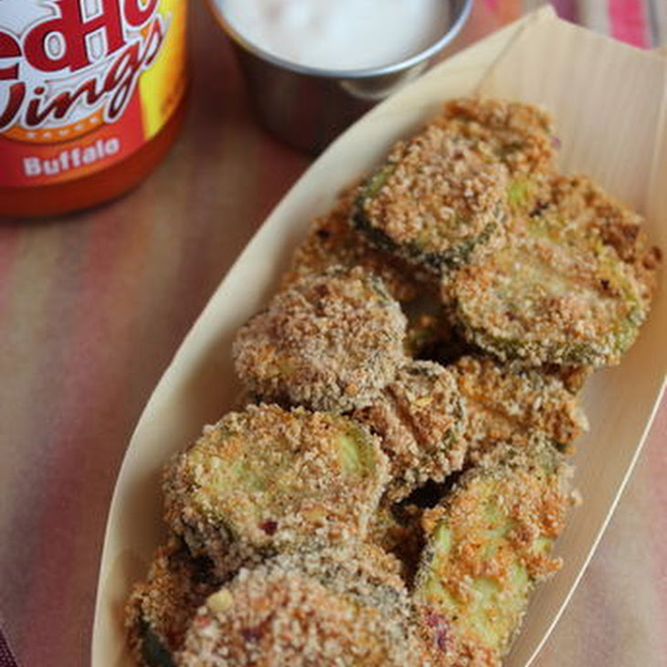 Baked Buffalo Pickle Chips