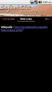 Safari List - Southern Africa- screenshot thumbnail