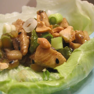 Asparagus and Chicken Lettuce Wraps.