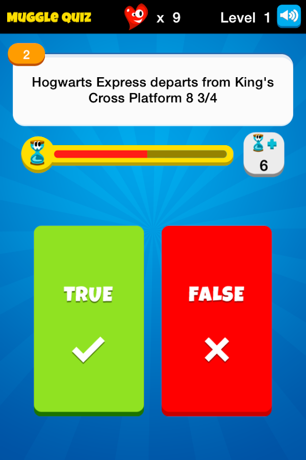 Muggle Quiz - HP Challenge - screenshot