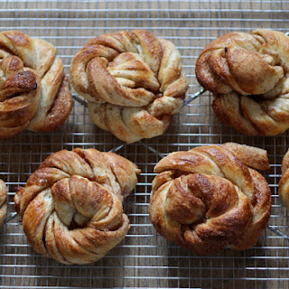 "Danish Cinnamon buns or ""Kanelsnurrer""."