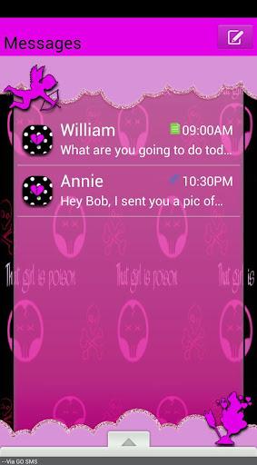 GO SMS THEME GothicValentine1