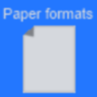 Paper formats icon