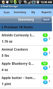E-Food Storage- screenshot thumbnail