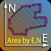 Area by coordinates calculator