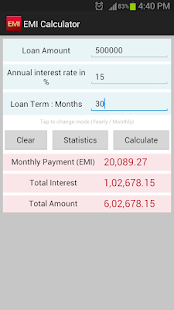 EMI Calculator SBI,HDFC,ICICI - screenshot thumbnail