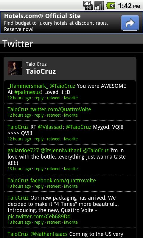Taio Cruz Fan App - screenshot