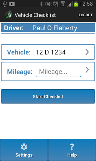 Dataset Vehicle Checklist
