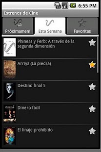 Estrenos de Cine - screenshot thumbnail