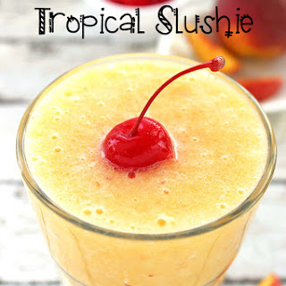 Peach and Pineapple Tropical Slushie.